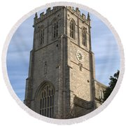 Christchurch Priory Bell Tower Round Beach Towel