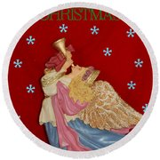 Christmas Angel Round Beach Towel by Aimee L Maher Photography and Art Visit ALMGallerydotcom
