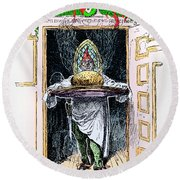 Christmas Pudding, 1882 Round Beach Towel