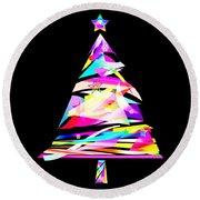 Christmas Tree Design Round Beach Towel