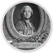 Christoph Willibald Gluck Round Beach Towel
