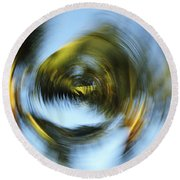 Circular Palm Blur Round Beach Towel