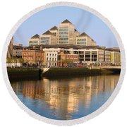 City Of Dublin Round Beach Towel