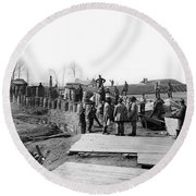 Civil War: Bull Run, 1862 Round Beach Towel
