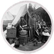 Civil War: Camp Life, 1861 Round Beach Towel