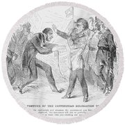 Civil War: Copperhead, 1863 Round Beach Towel
