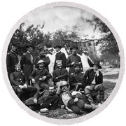Civil War: Headquarters Round Beach Towel