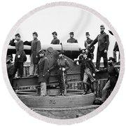 Civil War: Officers, 1865 Round Beach Towel
