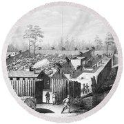 Civil War: Prison, 1864 Round Beach Towel