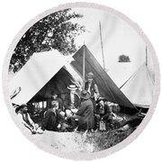 Civil War: Signal Corps Round Beach Towel