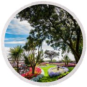 Clacton Pleasure Garden Round Beach Towel