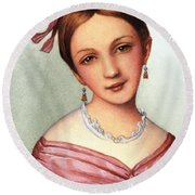 Clara Schumann (1819-1896) Round Beach Towel