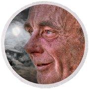 Close-up Profile Robert John K. Round Beach Towel