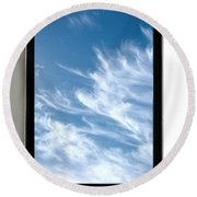 Cloud Computing Round Beach Towel by Photo Researchers