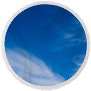 Cloud Imagery Round Beach Towel