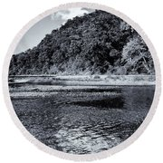 Cloud Over The River Round Beach Towel