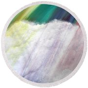 Cloud Within Rainbow Round Beach Towel