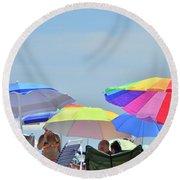 Coast Guard Beach Umbrellas Round Beach Towel