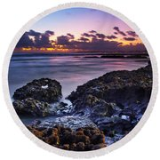 Coastal Landscape Round Beach Towel