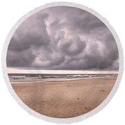 Coastal Storm Round Beach Towel