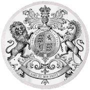 Coat Of Arms: Great Britain Round Beach Towel