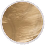 Coffee Clouds Round Beach Towel