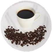 Coffee Round Beach Towel by Photo Researchers, Inc.