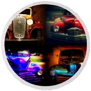 Collector Cars Round Beach Towel