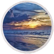 Color Of Light Round Beach Towel