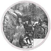 Colorado: Pikes Peak, 1867 Round Beach Towel