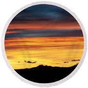Colorado Sunrise Round Beach Towel by Beth Riser