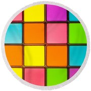 Colorful Background Round Beach Towel