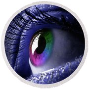 Colorful Eye Round Beach Towel