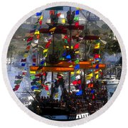 Colors Of Gasparilla Round Beach Towel by David Lee Thompson