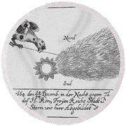 Comet, 1664 Round Beach Towel