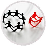Conceptual Situation Round Beach Towel by Photo Researchers, Inc.