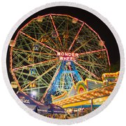 Coney Island Round Beach Towel