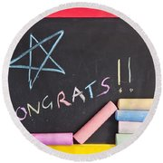 Congratulations Round Beach Towel