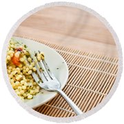 Cous Cous Salad Round Beach Towel