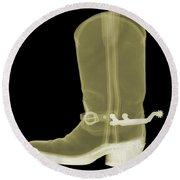 Cowboy Boot X-ray Round Beach Towel