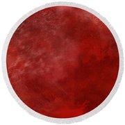 Crimson China Round Beach Towel