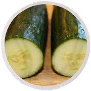 Cucumbers Round Beach Towel