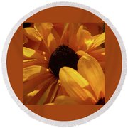 Cutleaf Tiger Eye Round Beach Towel