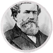 Cyrus Mccormick, American Inventor Round Beach Towel