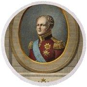 Czar Alexander I Of Russia Round Beach Towel