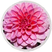 Dahlia Named Lucky Number Round Beach Towel