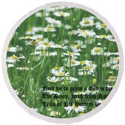 Daisy Fresh Round Beach Towel