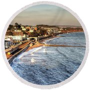 Dawlish Sea Wall Round Beach Towel