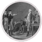 Death Warrant Of Major John Andre, 1780 Round Beach Towel by Photo Researchers