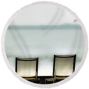 Deck Chairs Round Beach Towel